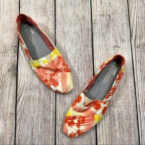Toms Womens Tropical Palm Tree Shoes